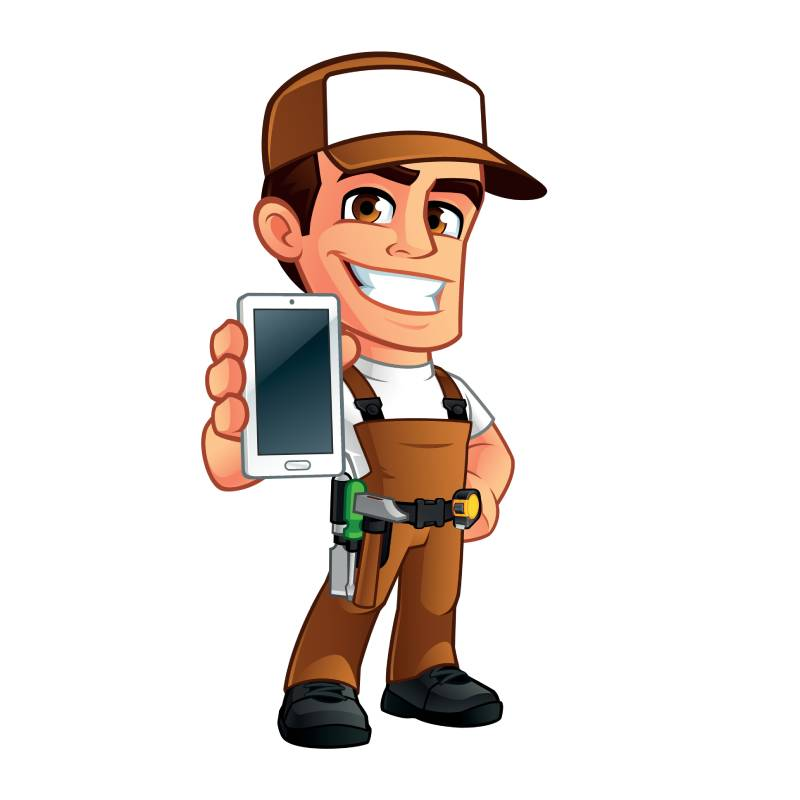 handyman logo with phone